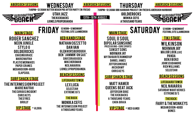 LINE UP 2014 by day