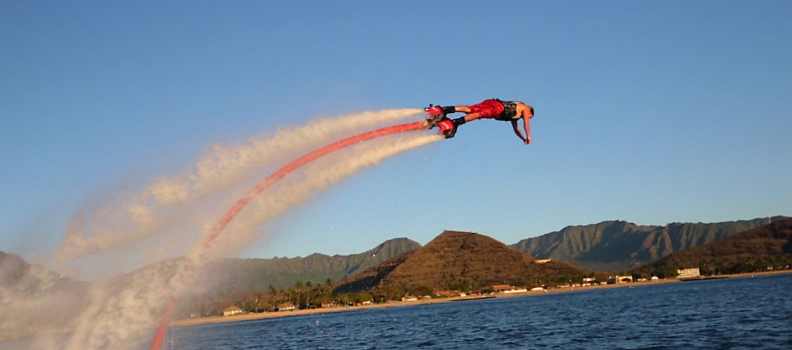 Flyboarding comes to Glass Butter Beach